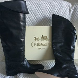 Coach Cheyenne Soft Calf leather boots; brand new!